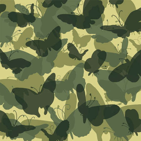 Camouflage butterfly green