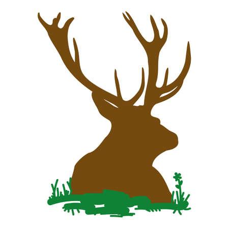 Lying deer Illustration