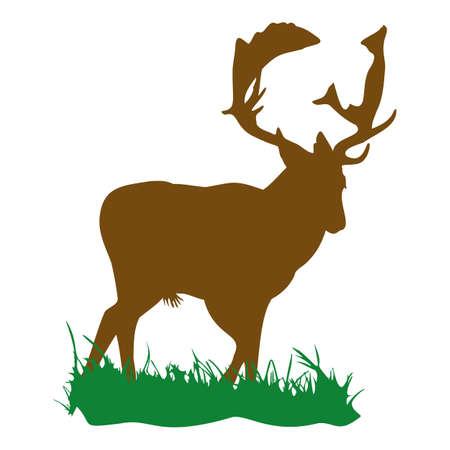 fallow deer Vektorgrafik