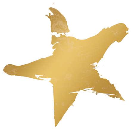 Star watercolor gold Standard-Bild