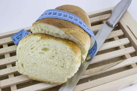 bread make you gain weight Stock Photo