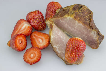 strawberries and ham photo