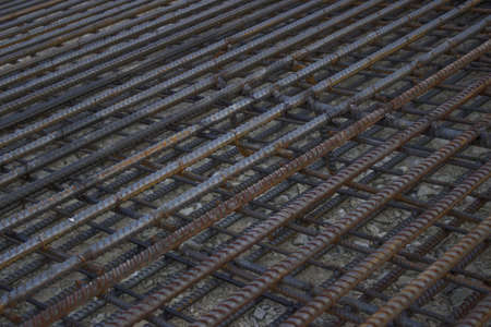 Large iron grid used to reinforce concrete