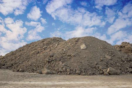 Piles of Dirt  on a building site Standard-Bild