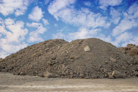 Piles of Dirt  on a building site Foto de archivo