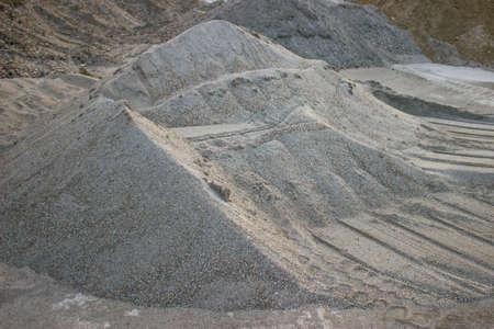 Piles of gravel on a building site Foto de archivo