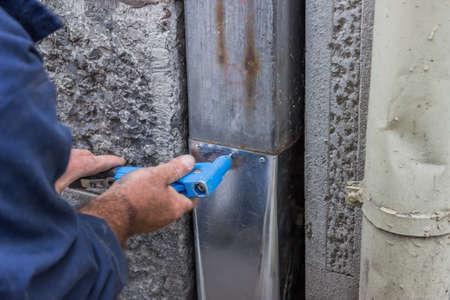 fixing a leaky gutter downspout, fixing a leaky gutter, Patching Leaking Gutters