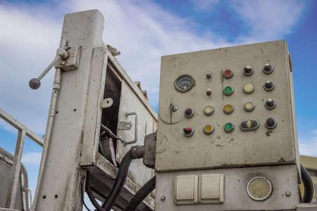 roughneck: concrete pump controls, dashboard on the machine for concrete pumping