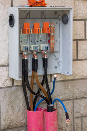 3 Phase High Voltage Breaker Box, Electrical Wiring, 3 phase panel detail