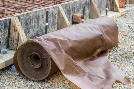 waxed: Contrapiso de papel encerado para la instalaci�n losa de concreto, barrera contra la humedad durante el hormigonado obras pisos de vertido. . Atenci�n selectiva y someras DOF.