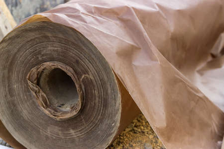 concreting: Underlayer waxed paper roll for floor installation