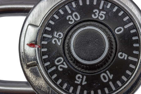 dial lock: Master lock combination padlock, padlock with dial Stock Photo