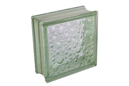 Glass block for showers and walls. Isolated on white background