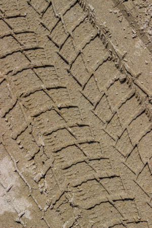 tire tracks: Tire tracks in the sand, tracks on sand