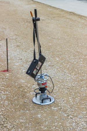 Tool for testing soil compaction, measuring soil compaction