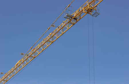 permissible: Marks for JIB capacities, marks for maximum permissible loads on jib construction crane. Maximum Load Markers.
