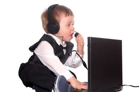 boy and computer Stock Photo - 3624836