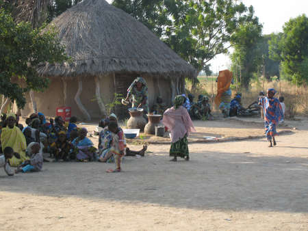 african family: african village