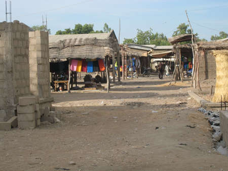 cameroon: Villaggio africano Editoriali