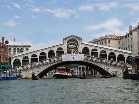 rialto bridge:  Rialto bridge in Venice, Italy                               Stock Photo