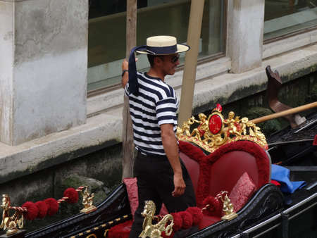 gondolier in Venice, Italy Stock Photo - 9890492