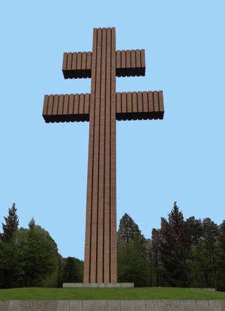 charles de gaulle: Lorraine Cross memorial Charles de Gaulle