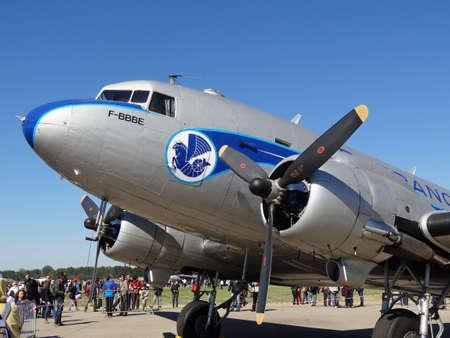 douglas: airplane douglas DC3 on the ground
