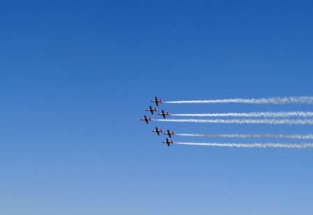 aerobatic:  polish aerobatic team at an airshow in france