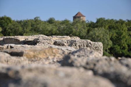 Wall of an ancient fortress Фото со стока