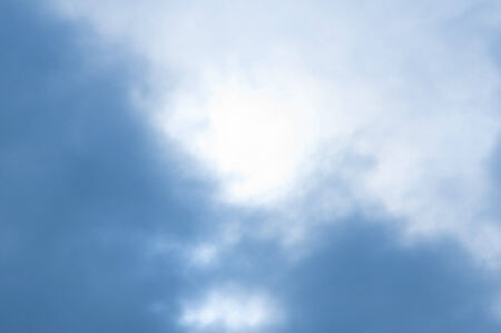 white hole: Blue sky with white hole at the center