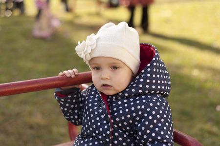 sad little girl close up