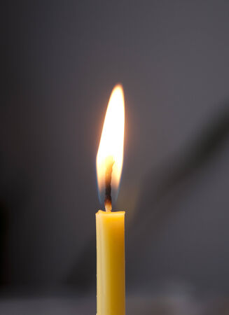 candle on the dark background