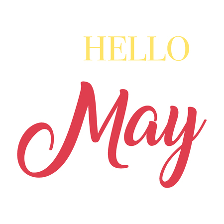 Hello May typography script lettering