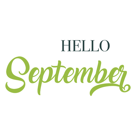 Hello September  typography script lettering
