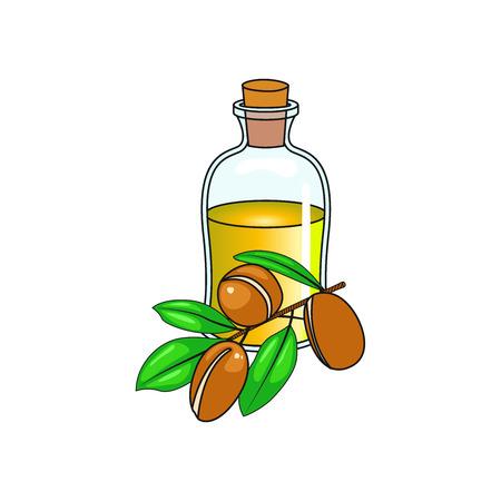 Olive Bottle with seeds vector design 矢量图像