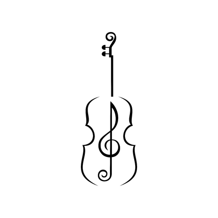 Violin with Music Note