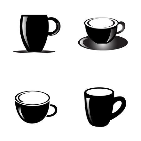 Abstract cup design collection