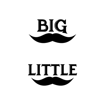 beard with BIG and LITTLE good for T shirt design for dad and son 矢量图像