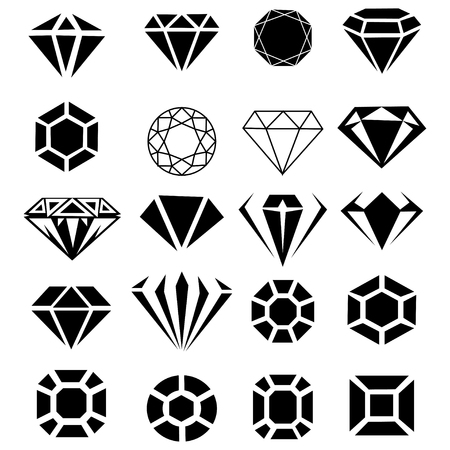 abstract, modern and classic diamond collection isolated  in white background vector design