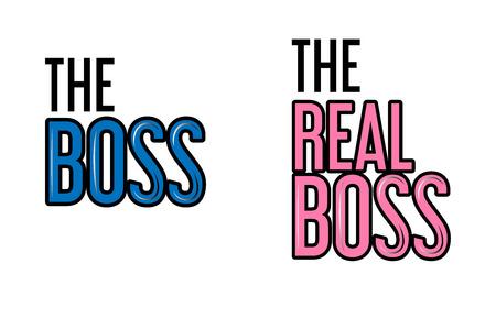 Couple t-shirt design, real boss