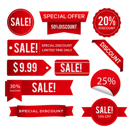 Sales,discounts,offers tags vector design collection 矢量图像
