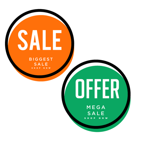 Sales, offers tags, buttons vector design collection