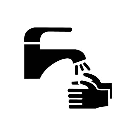 Hand wash in water  vector illustration design  isolated on white background, symbol for your web site design, icon logo, app, UI. 矢量图像