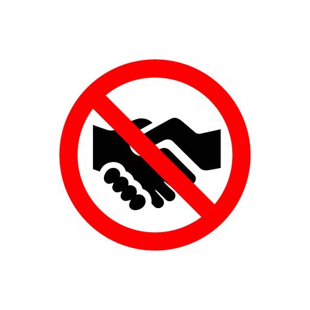 Don't Hand shaking vector illustration design isolated on white background, symbol for your web site design, icon logo, app, UI.