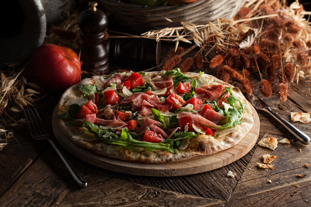 Italian pizza. Artisan food style.