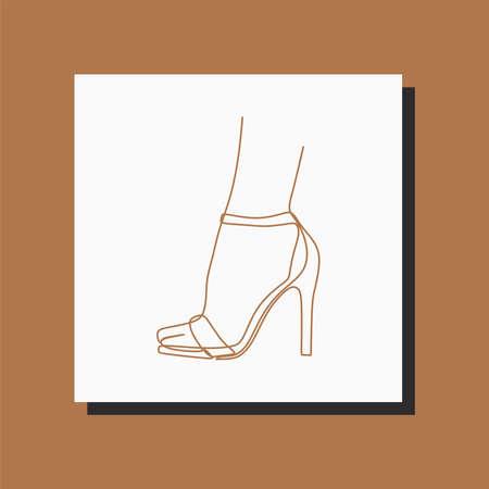 sandals leg one line art continuous line