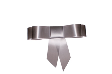 grey bow for gift photo