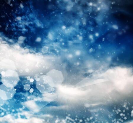 brilliant winter sky background Stock Photo - 8768979