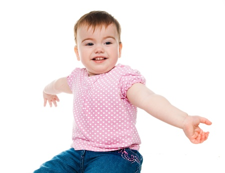 small child on a white background Stock Photo - 8892942