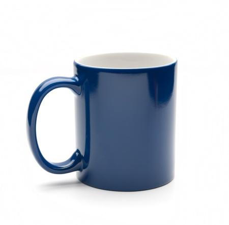 blue mug on a white background photo